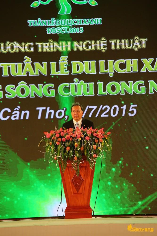 Ông Lê Hùng Dũng phát biểu tổng kết bế mạc Tuần lễ Du lịch xanh ĐBSCL 2015