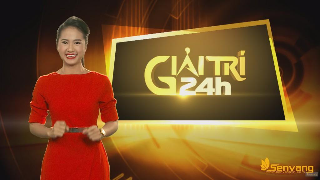 MC Kim H±ng trong ch°¡ng trình Gi£i Trí 24h - ¢nh: TVO