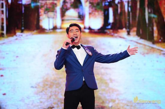 Thí sinh Nguyễn Trọng Bình (MS 02) đã thể hiện rất thành công ca khúc Bài ca Hà Nội