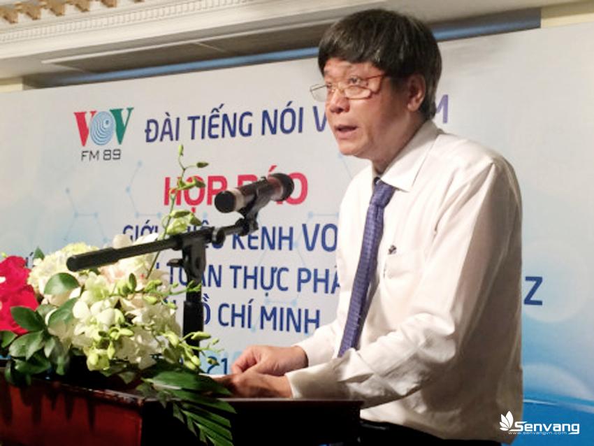 Ông Vũ Hải, Phó Tổng Giám đốc Đài Tiếng nói Việt Nam phát biểu tại cuộc họp báo