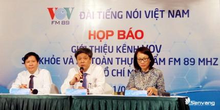 Phó TGĐ Đài Tiếng nói Việt Nam - ông Vũ Hải, chủ trì buổi họp báo giới thiệu Kênh VOV Sức khỏe và An toàn thực phẩm