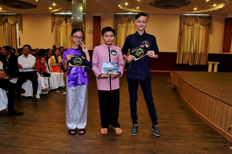 Ba thí sinh nhí vượt qua vòng 1 ở An Giang, tiếp tục đến dự thi vòng 2.